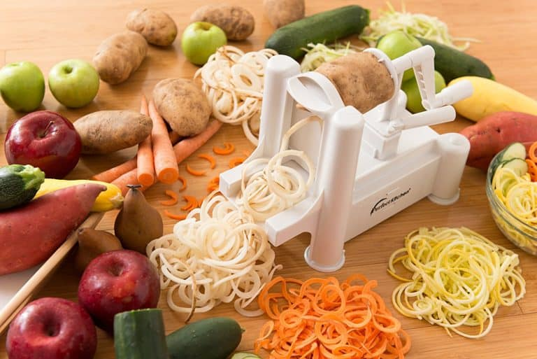 Spiralizer And Three In One Tri-Blade Vegetable Slicer