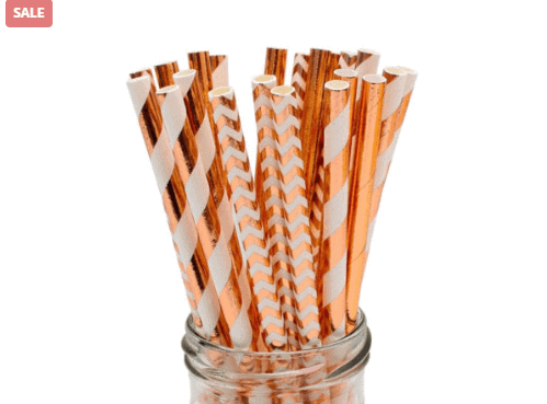 25pcs Fun Paper Drinking Straws